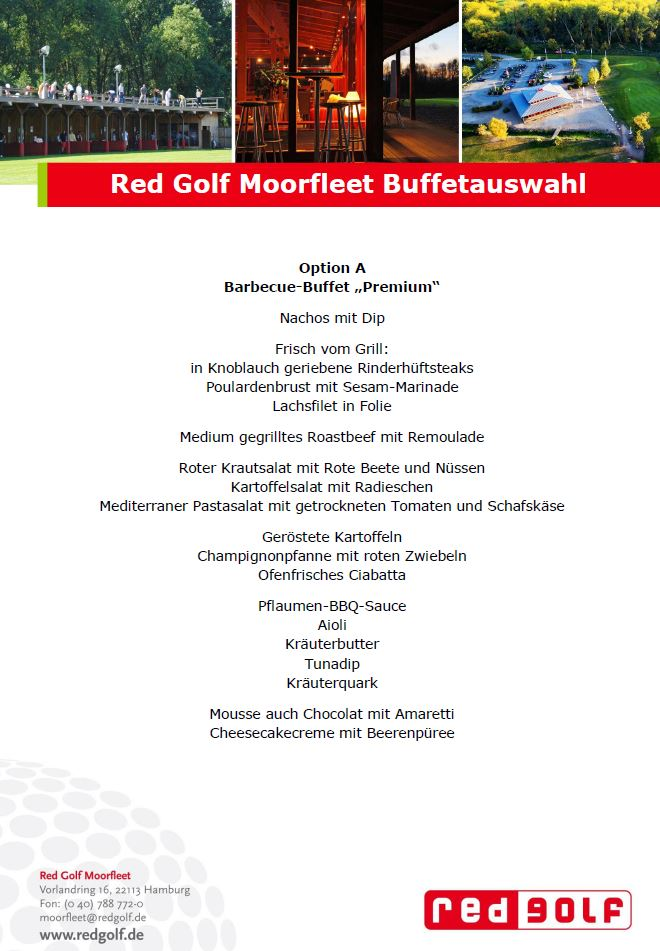 redgolf moorfleet elb lodge moorfleet firmenfeier firmenevent bbq barbeque buffet